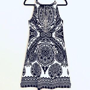 INC Bedazzled Neckline Mini Dress M